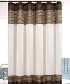 Take a look at this Taupe Sequin Bahamas Shower Curtain by CHD Textiles on #zulily today!