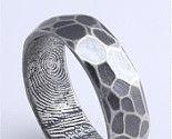 custom finger print rings
