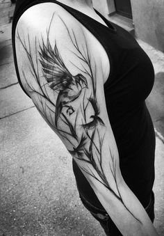 Birds sleeve tattoo - 110 Lovely Bird Tattoo Designs