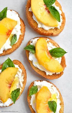 A perfect summer appetizer made with fresh peaches and goat cheese.