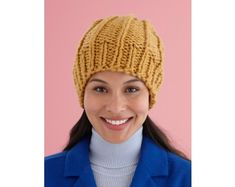 Easy Rib Knit Hat Pattern