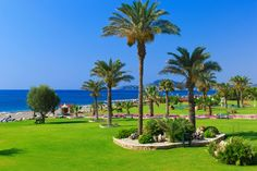 This hotel is located directly on the Kallithea beach. 5 Star Hotels, Golf Courses, Greece, Wellness, Beach, Gardens, Greece Country, The Beach, Beaches