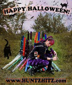 Happy Halloween From www.huntzhitz.com !  Ft. Lily Monstermeat! Water Bongs, Happy Halloween, Monster Trucks, Lily, Model, Scale Model, Lilies, Models