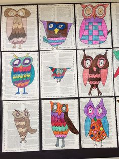 OWLS.   by thrid grade