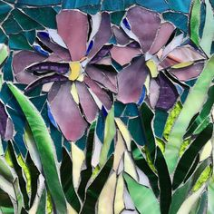 Iris Love: Stained Glass Mosaic Fine Wall Art by MaitriMosaics on Etsy