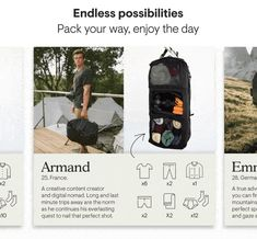 Tropicfeel | Shell: The Modern-Day Travel Backpack by Tropicfeel — Kickstarter Walking Gear, Camera Pouch, Wardrobe Systems, Digital Nomad, Travel Backpack, Shell, Backpacks, Day, Creative
