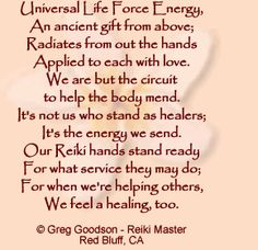 Great poem about Reiki