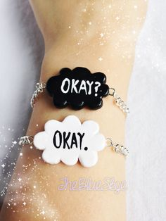 The Fault In Our Stars Friendship Bracelets Okay?/Okay. Polymer Clay