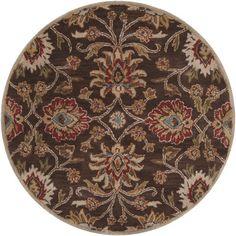 World Menagerie Topaz Hand-Tufted Dark Brown Area Rug Rug size: 2' x 3'