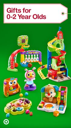 Give your littlest one gifts made to make learning fun like Little People Town, Fisher Price & more.