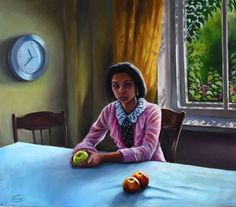 View: Gypsy girl with apples | Artfinder