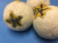 Items similar to Upcycled Wool Dryer Balls - Diameter - Star Fish/Sea Star on Etsy Wool Dryer Balls, Upcycle, Arts And Crafts, Fish, Sea, Handmade, Home Decor, Upcycling, Upcycled Crafts