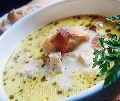 Zupa serowa z pieczarkami i grzankami