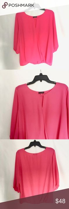 Vince Camuto Pink Blouse like new condition- only worn once Vince Camuto Tops Blouses