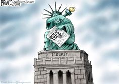 Scalia Dies, leaving many Americans fearful that SCOTUS will become another tool of the left wing placing the constitution and our liberty in danger. Cartoon by A.F.Branco ©2016.