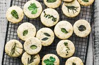 Set out these buttery savory herb shortbread crackers at the cocktail hour for an elegant alternative to chips. I've included a pretty customizable menu and place cards to help you set the theme for a spring brunch or afternoon tea.