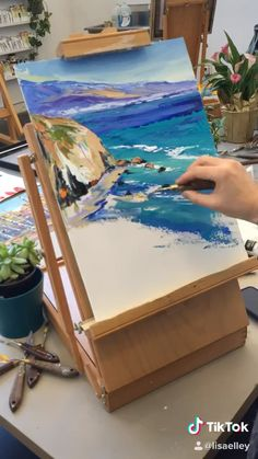 California paintings by an award winning artist Canvas Painting Tutorials, Diy Canvas Art, Aesthetic Painting, Painting & Drawing, Knife Painting, Large Painting, Pastel Art, Art Lessons, Watercolor Art
