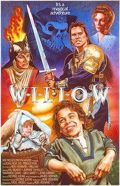 Willow Movie Poster~~Movies that made me cry Film Movie, See Movie, 80s Movies, Great Movies, Indie Movies, Comedy Movies, Action Movies, Films Cinema, Cinema Tv