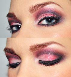 Copyright: http://www.lindahallberg.se/ #eyes #makeup #pink