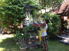 Blessing by Komang at Villa Sinar Cinta house temple