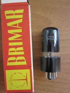 1 tube 6V6G BRIMAR MULLARD ENGLAND 6100 ROUND TOP CODE 3E6 422 6 V 6 6V6 TEST 86 #FIVRE