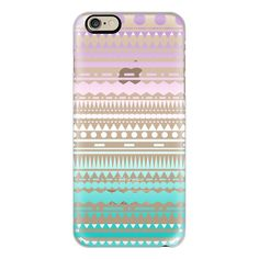 Teal Lilac Ombre Aztec Transparent  - iPhone 6s Case,iPhone 6... (1,830 DOP) ❤ liked on Polyvore featuring accessories, tech accessories, phone cases, phone, electronics, iphone cases, iphone cover case, slim iphone case, aztec print iphone case and teal iphone case