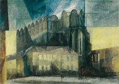 Lyonel Feininger - La catedral en Halle - 1930