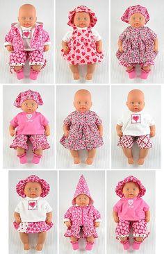 Wollyonline Blog: Summer Hearts Baby Doll Pattern, 36cm dolls
