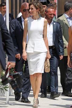 Reina Letizia de Espa�a y el blanco sofisticado