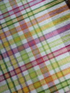 """Summertime"" M's & O's Tapestry Weaving, Loom Weaving, Hand Weaving, Carpet Mat, Rugs On Carpet, Pillow Storage, Girls Bedroom Furniture, Weaving Projects, Girl Decor"
