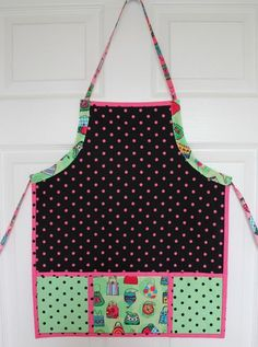 Little Helper's Apron--Use fat quarters from your stash to stitch up this quick-and-easy apron for a little chef or budding artist. PDF pattern is available at www.craftsy.com