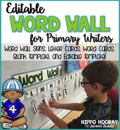 I love this editable word wall for the classroom! The letter cards and word cards are small enough to make it functional and accessible for students. It includes letter cards in turquoise, lime, purple, pink, and various color combinations, as well as 120 no excuse sight words, a blank template  AND an editable template for typing your own words!