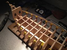 Strengthening the bow of the ship Rc Boot, Model Ships, Santa Maria, Wine Rack, Wood, Decor, Boat Building, Concept Ships, Decoration