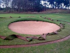 New turf was shaped on all bunkers of the Cheshire golf course