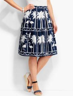 3044ca669a9 Fashion Bug Fashion Bug Talbots Women s Flamingo Print Pleated Skirt.  Flamingo PrintFlamingosPlus Size ...