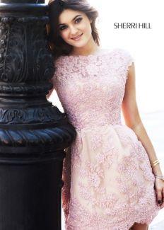 Sherri Hill 2941 Kylie Jenner Blush Dress