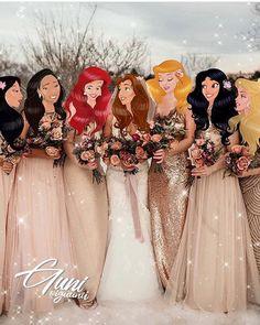 Disney princesses in wedding dresses iguunii Beautiful creativity of the Azerbaijan artist and illustrator iguunii Disney Princess Fashion, Disney Princess Pictures, Disney Princess Drawings, Disney Princess Art, Disney Fan Art, Disney Pictures, Disney Drawings, Disney Pixar, Disney Rapunzel