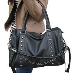 (FL008752) 2012 Arrival Handbag Korea Shoulder Bag Rivet Chain Handbags Fashion Cross-body Retro Fashion Cat Bags