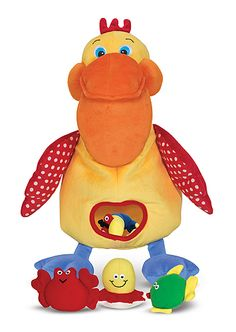 Hungry Pelican Learning Toy | Baby toys | Melissa and Doug. This would be a awesome for working on speech sounds and as a card muncher for Apraxia homework.  Repinned by Apraxiakidslearning