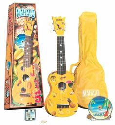 Mahalo UK-30Y Painted Economy Soprano Ukulele Outfit (Yellow, Carrying Bag) by Mahalo. $41.92