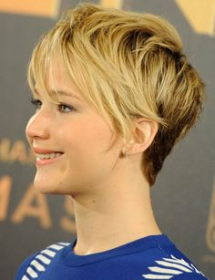 Pixie Haircuts 2014: Jennifer Lawrence Blonde Ombre Short Hair