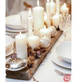 As velas dão todo o charme às mesas de fim de ano. 💫 E não custam caro. 🙏🏼 Só usar a criatividade! 🌟