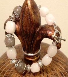 Labradorite and Snow Quartz  Handmade by BranstoneMagicMaster, $45.00