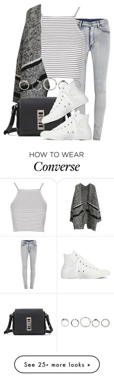"""Untitled #2057"" by do-the-calder on Polyvore featuring Cheap Monday, Topshop, Proenza Schouler and Converse"