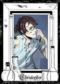 Christopher Carstairs - released on Cassandra Clare's Tumblr - drawn by Cassandra Jean