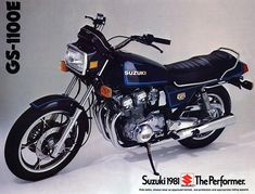 Suzuki GSX1100E  I totaled my dads just like this.  I replaced it a few years later with a GS1100G.