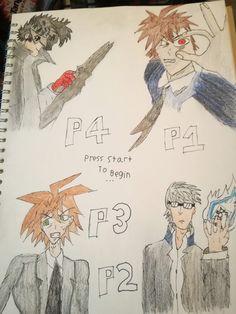Joker, Yu, Makoto and Hajime