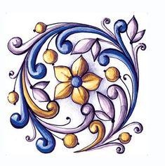 Items similar to Ornamental Vinyl Tiles Stickers Kitchen Bathroom DIY Sticker Tile on Etsy Pottery Painting, Ceramic Painting, Fabric Painting, Mandala Art, Tile Art, Mosaic Art, Diy Sticker, Devian Art, Italian Pottery