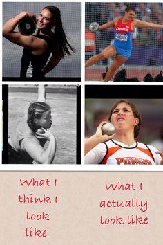 Throwing shot put and discus!!! sssssssoooooo tttttrrruuuueeee!!!!