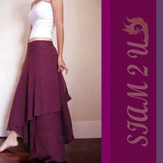 Boho two layers circle wrap skirt  (H)